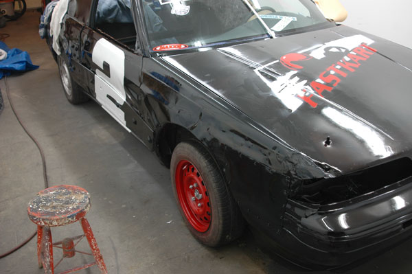 1992 Mazda MX6 Road Runner with new paint & numbers